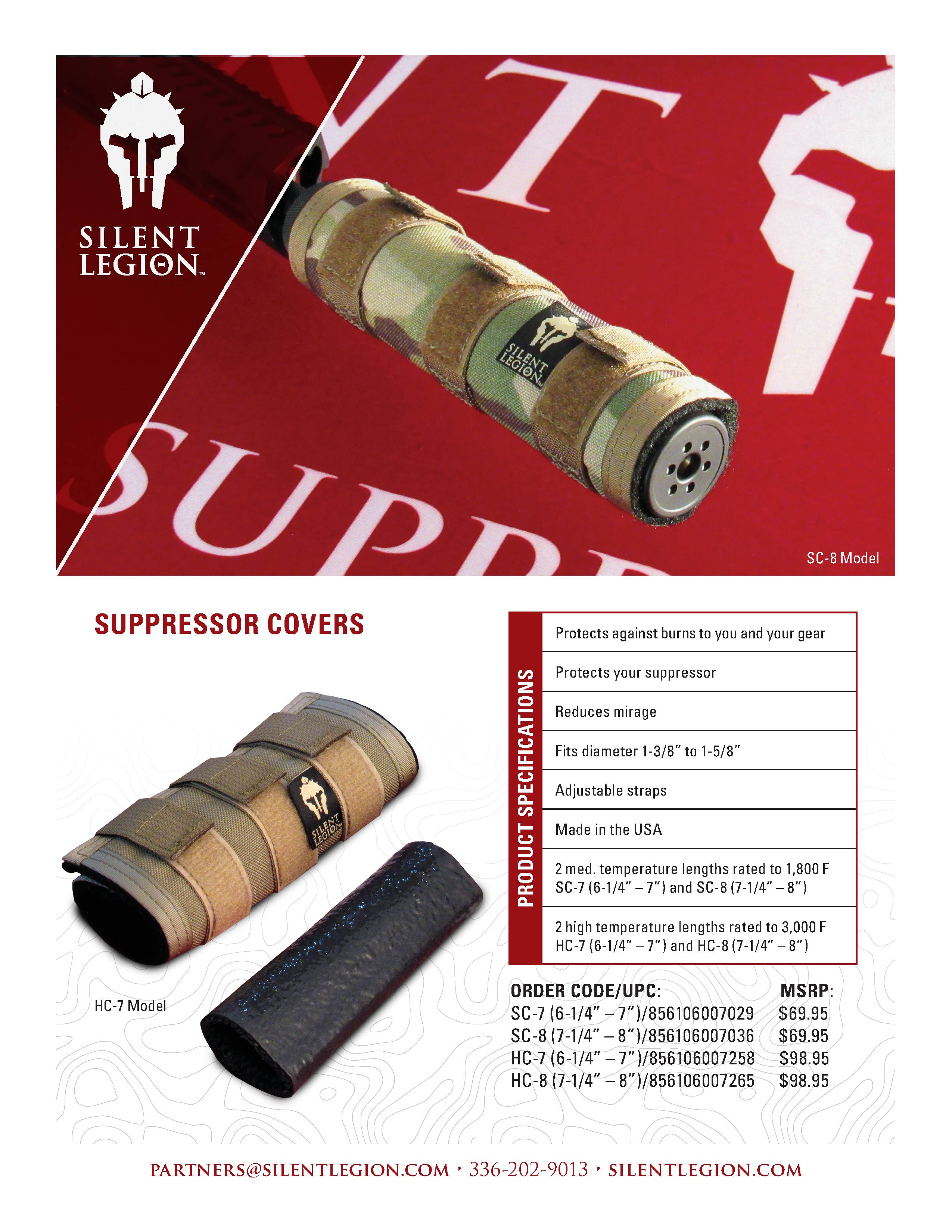SUPPRESSOR COVERS