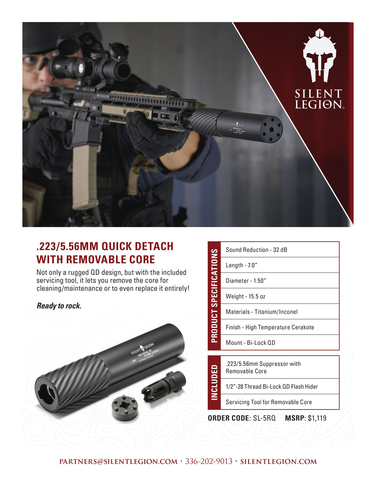 .223/5.56MM Quick Detach with Removable Core