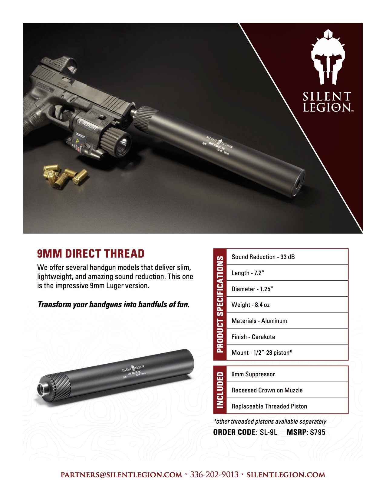 9mm Direct Thread